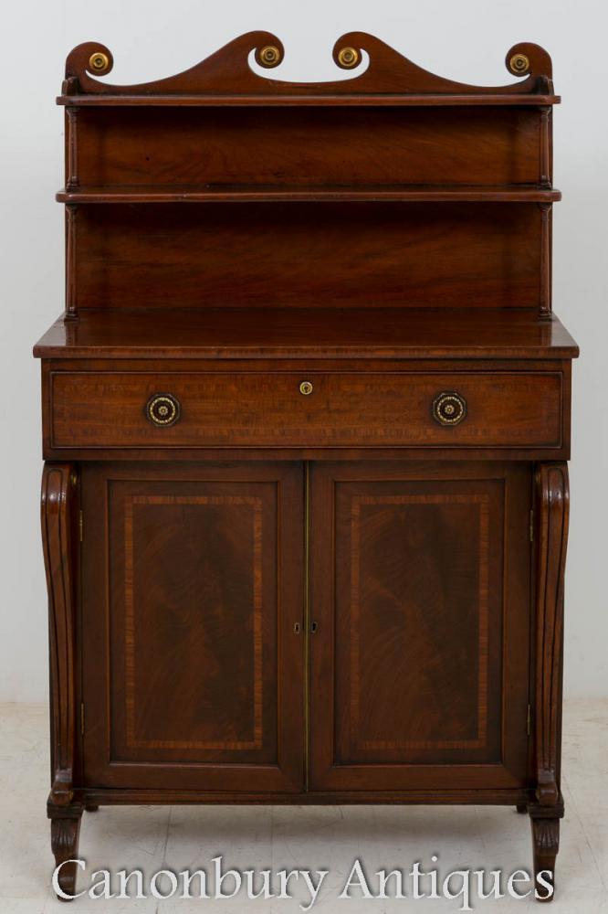 Chiffonnier Regency en acajou buffet armoire 1800