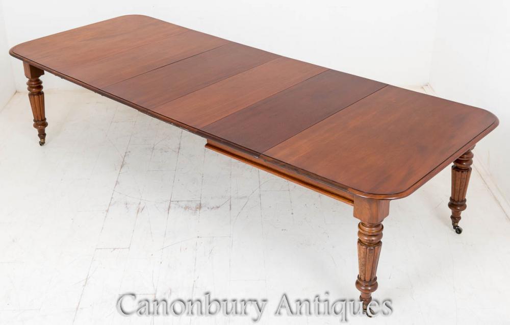 Début victorienne s'étendant repas Table meubles en acajou