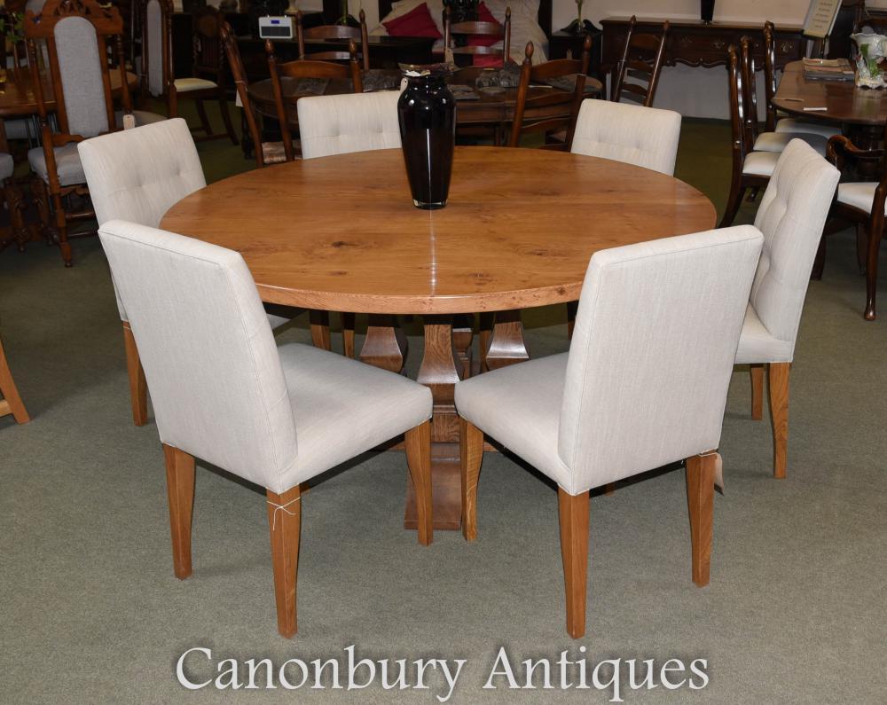 Ensemble de table et de chaise de réfectoire de cuisine en chêne Pippy Ensemble de salle à manger de ferme