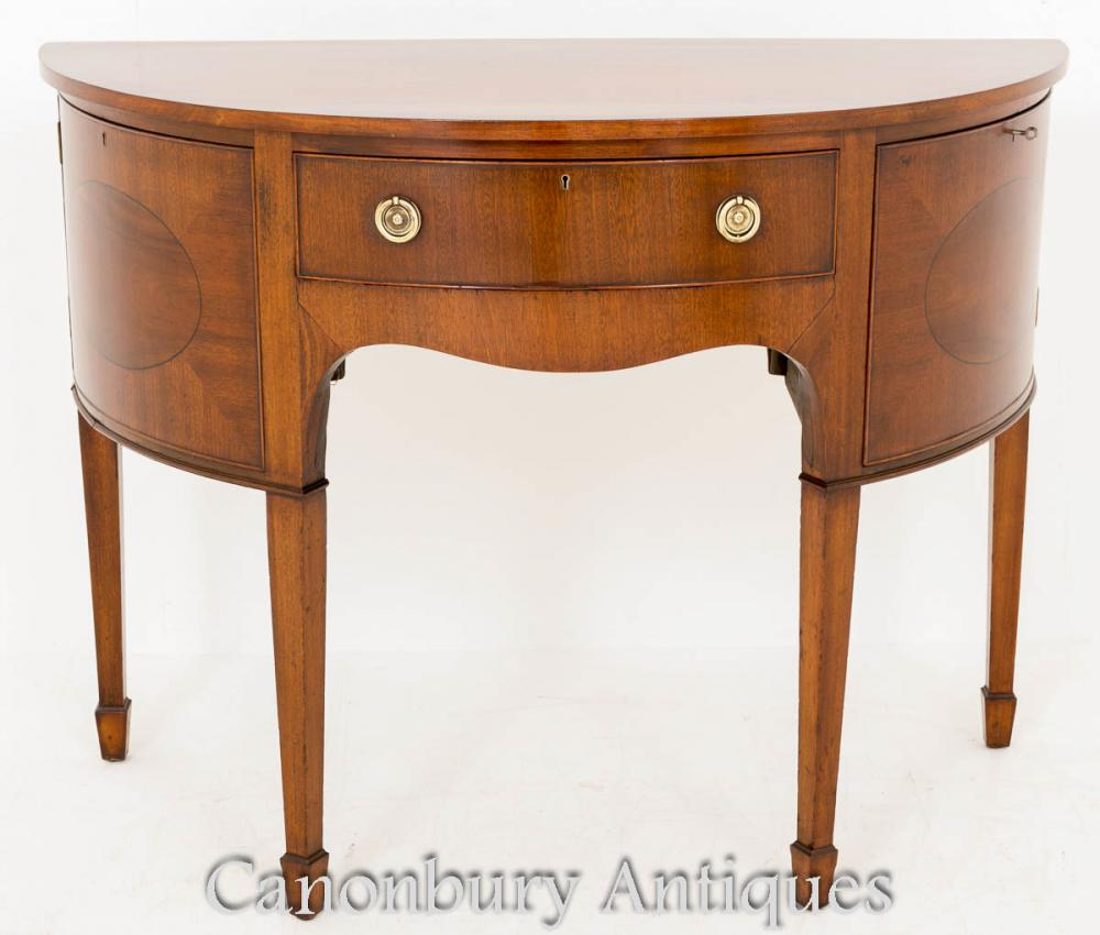 demi lune buffet archives antiquites canonbury. Black Bedroom Furniture Sets. Home Design Ideas