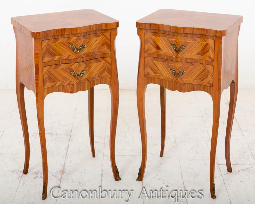 French Empire Kingwood Coffres de chevet Nightstands 1900