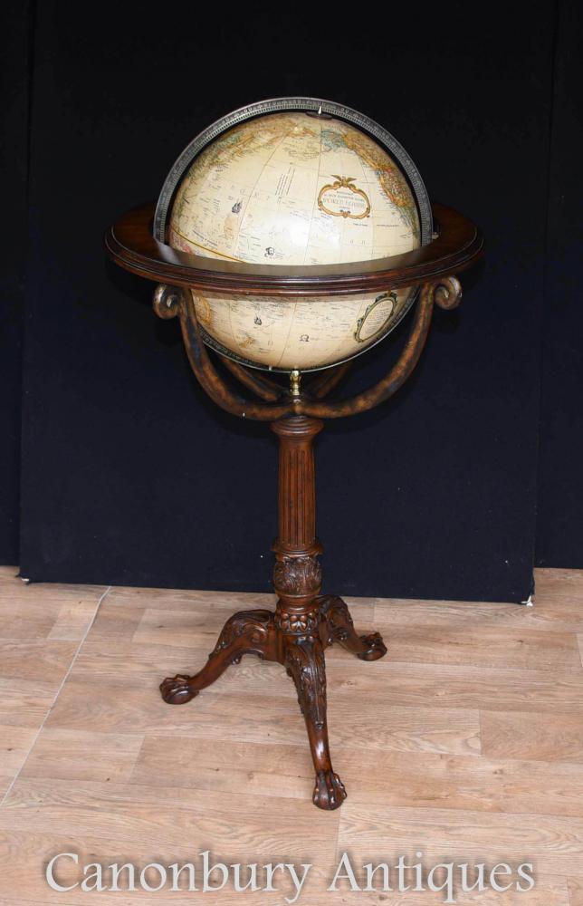 Globe terrestre en acajou anglais Replogle World Classic Series