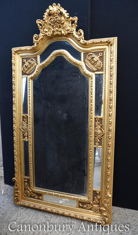Grand Miroir anglais George II à décor doré