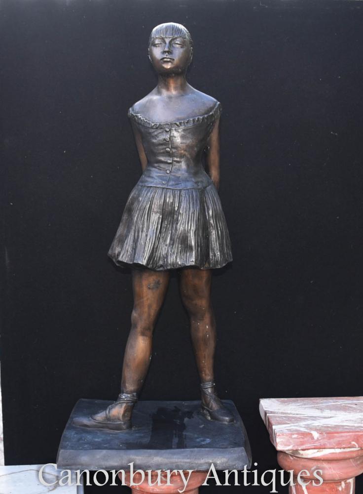 Grande statue de ballerine de Degas en bronze Figurine Ballet
