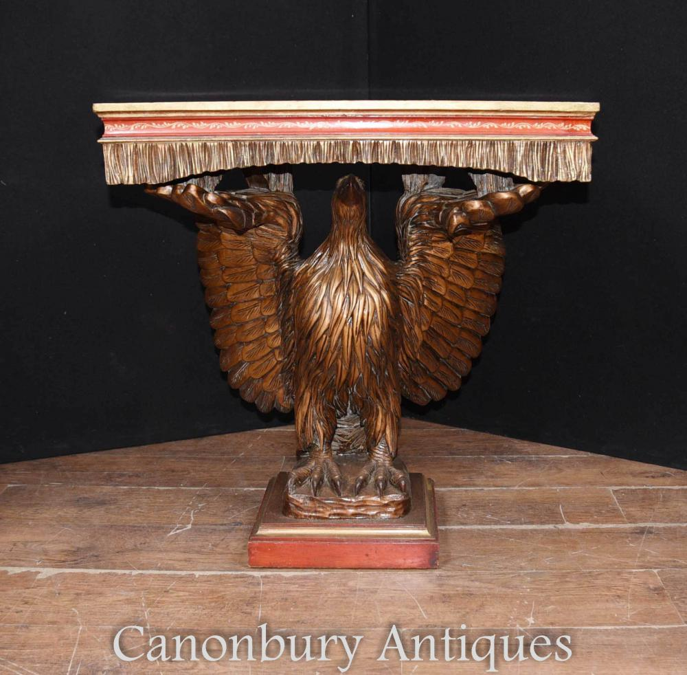 Laque chinoise antique American Eagle Console Table Chinoiserie classique