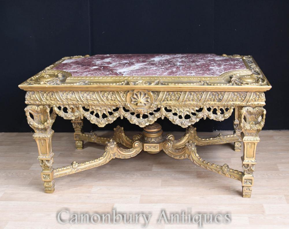 Louis XVI doré sculpté Français Table Console