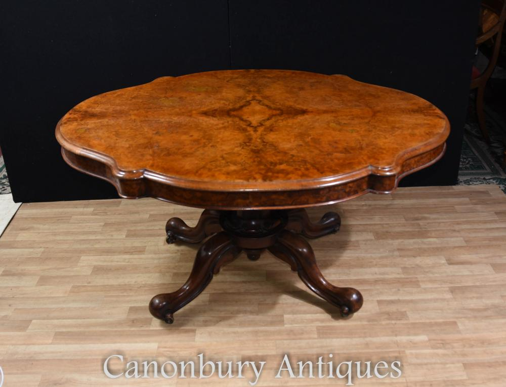 Noyer Victorian Center Table Loo Tables