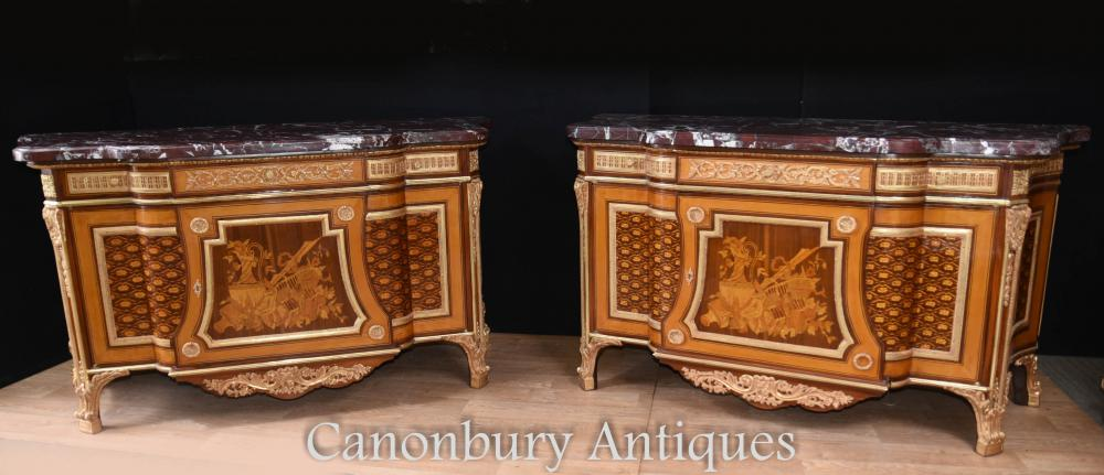 Paire Commodes ornées de l'Empire français Commodes