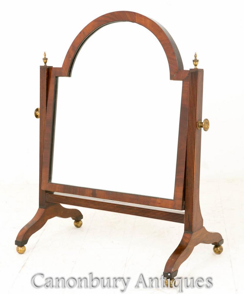 Régence de toilette acajou miroir Cheval