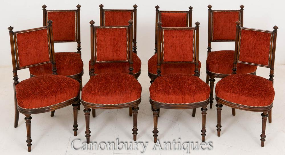 Set 8 William IV Mahogany à manger chaises 1800