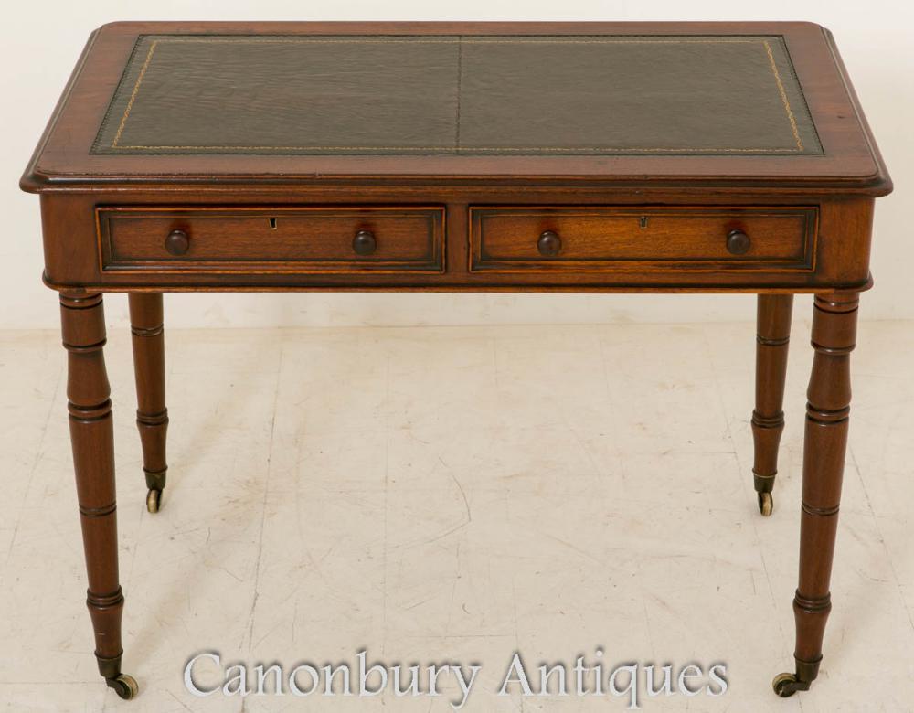 Table d'écriture médiévale Bureau en acajou 1860