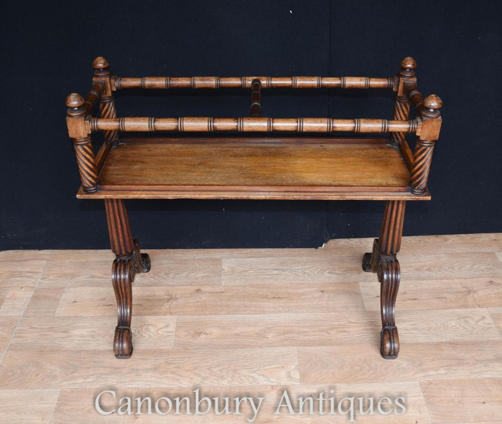 Table d'appoint en acajou antique Gillows Wine Rack
