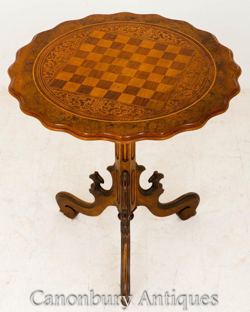 Table d'appoint occasionnelle en noyer victorienne 1860
