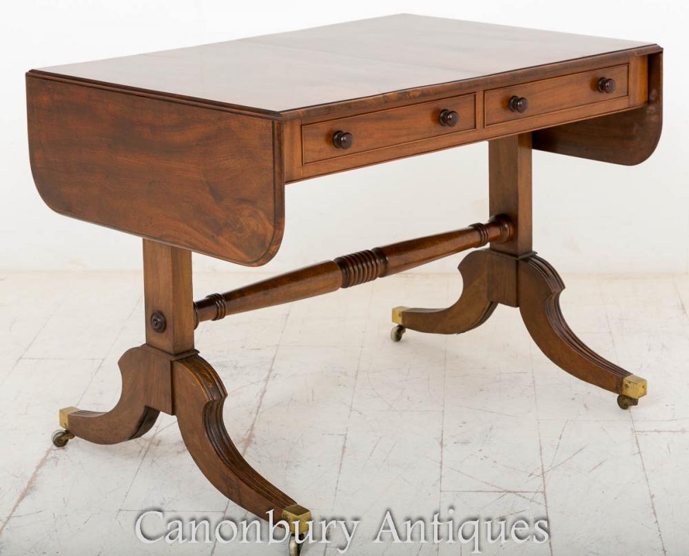 Table de Sofa de Régence de Bois de rose Étendant la Feuille de Goutte