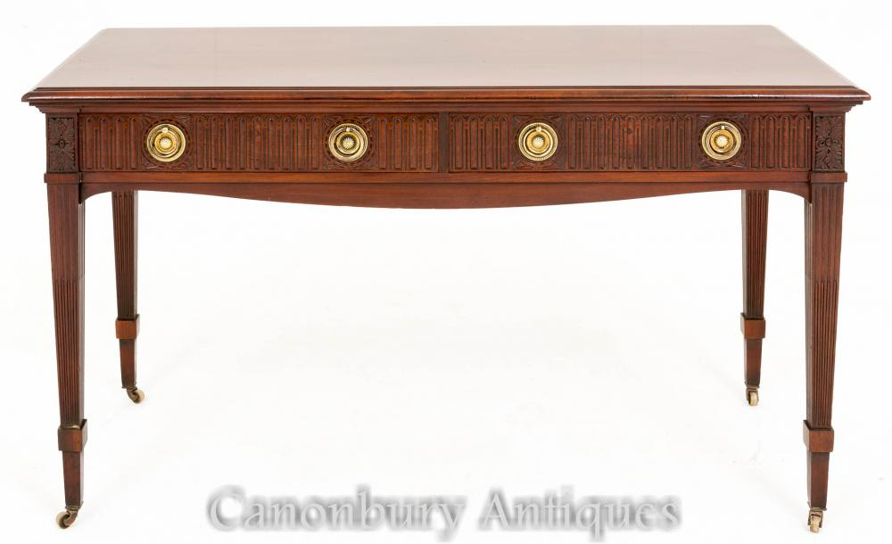 Table victorienne antique de console latérale en acajou 1880