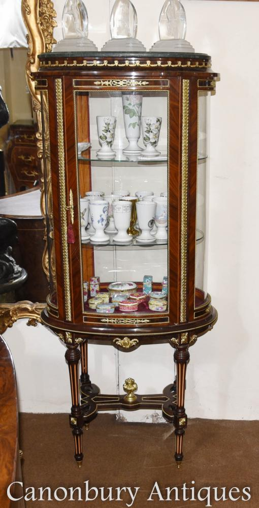 Vitrine en verre de style Louis XVI Bijouterie