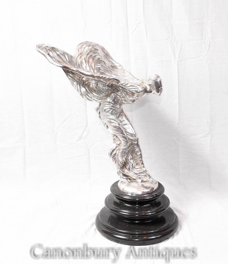 Voler la Statue de Bronze Silver Lady Figurine Charles Sykes