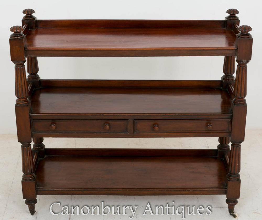 William IV Dumb Waiter Mahogany Bibliothèque étagère 1800