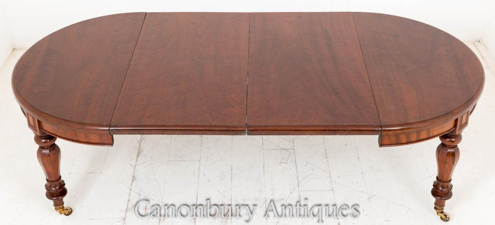 William IV Mahogany Table à manger extensible
