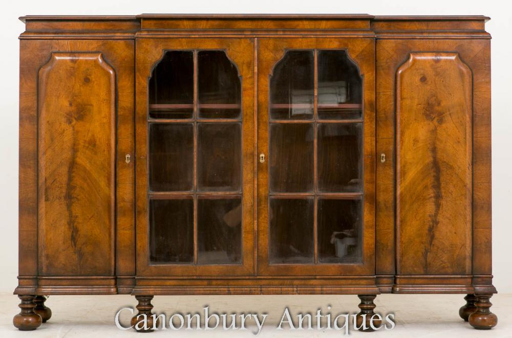 William et Mary Walnut côté armoire Buffet 1930