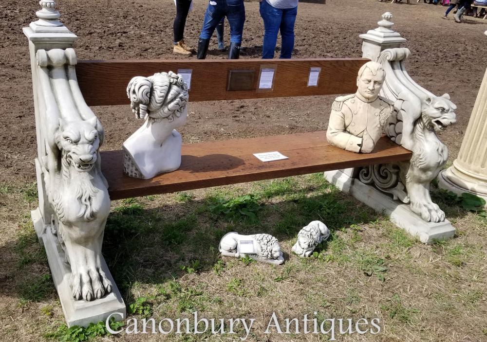 Banc de siège Winged Lion Stone Garden