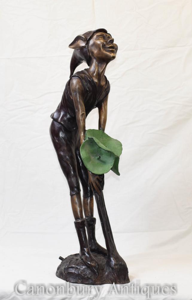 Bronze Statue de Pixie Fontaine Celtique Fairey Elph Casting