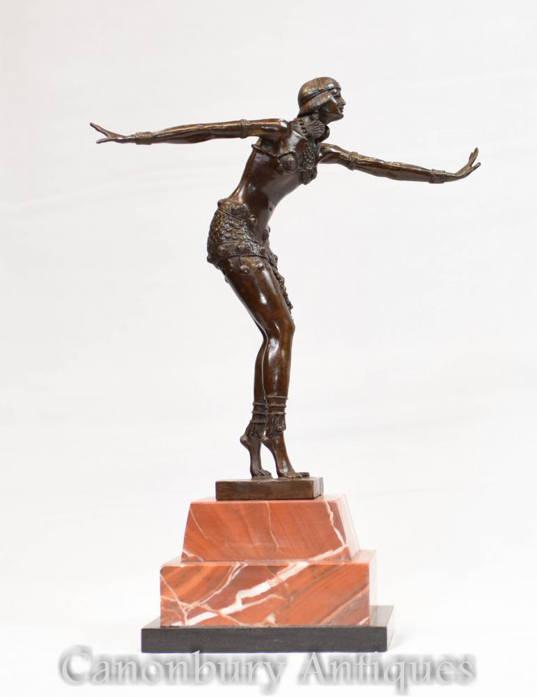 Figurine Art Déco en Bronze Charleston Dancer par Chiparus