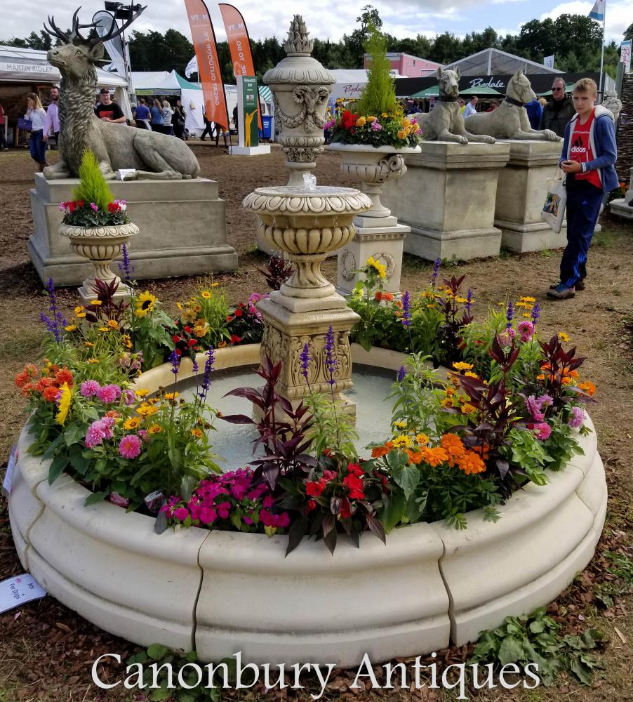 Fontaine de jardin en pierre anglaise Doulton Urn Water Feature
