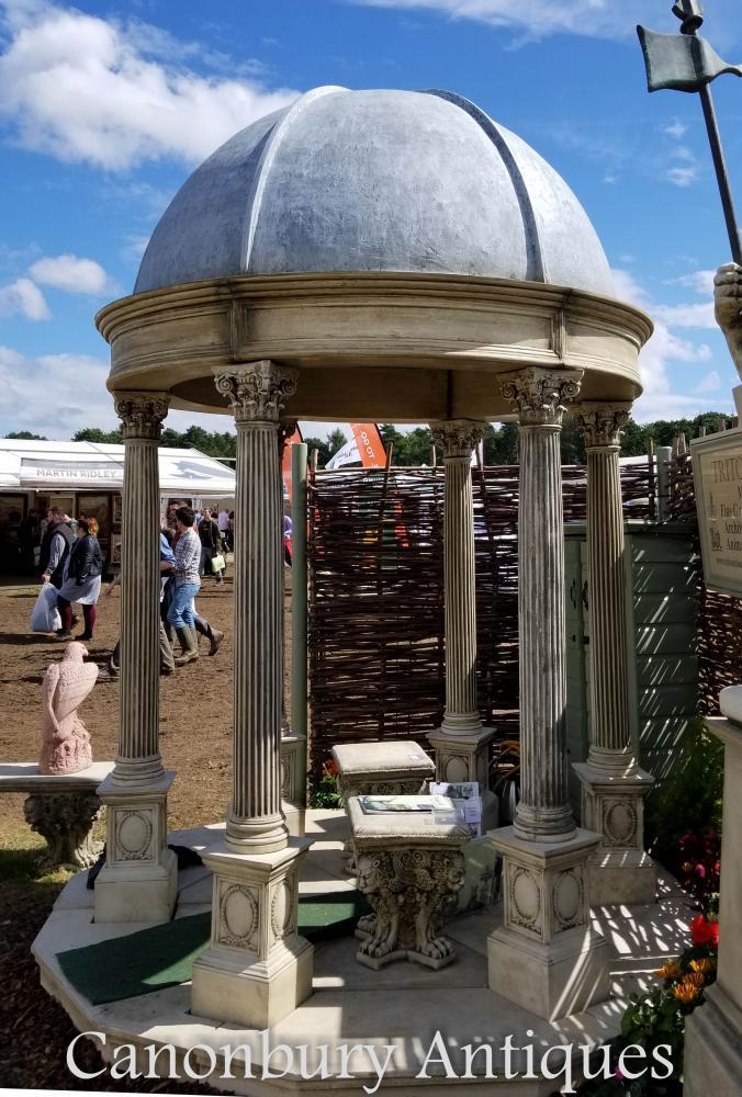 Gazebo de temple de jardin de 2.4m avec le dôme conique