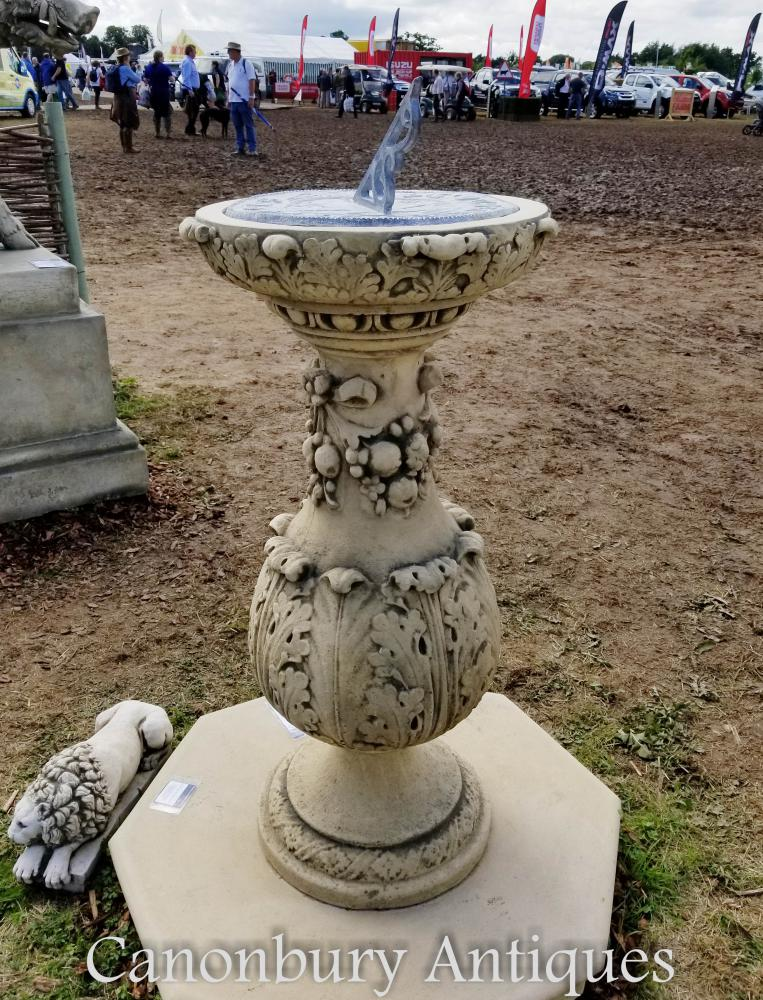Pierre anglaise géorgienne Sun Dial colonne jardin Statue