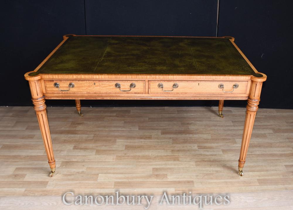 bureau de table en cuir archives antiquites canonbury. Black Bedroom Furniture Sets. Home Design Ideas