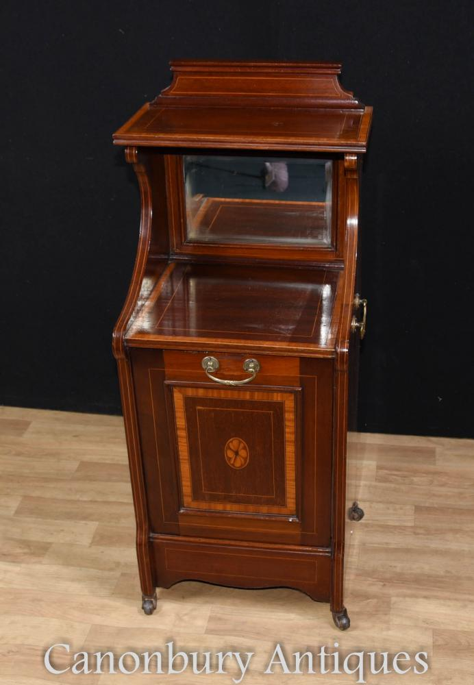 Regency Mahogany Coal Shuttle Armoire