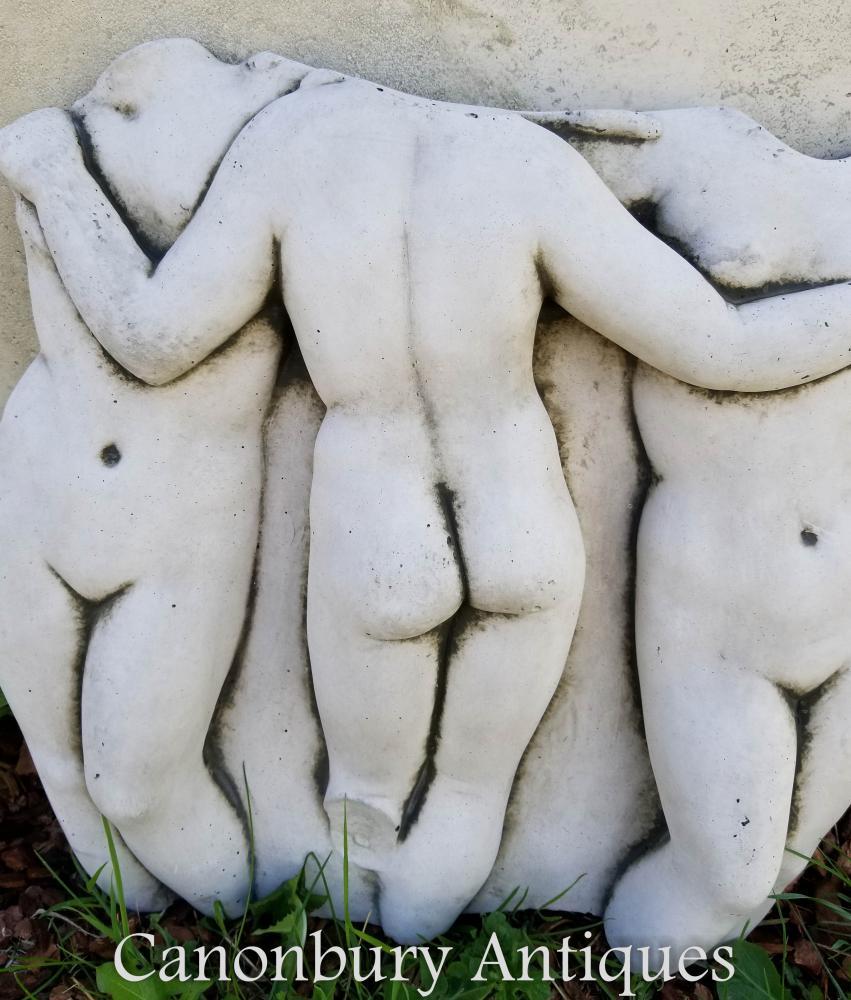 Sculpture en pierre Classique Trois Grâces Statue