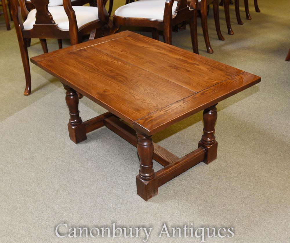 Table d'Appoint Réfectoire de Table Basse en Chêne Farmhouse