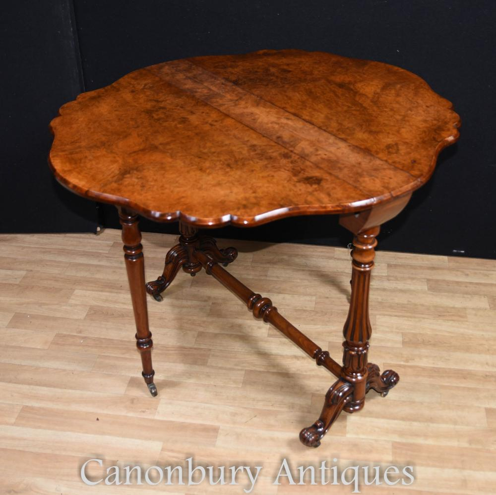 Table d'appoint Victorian Walnut Drop Leaf