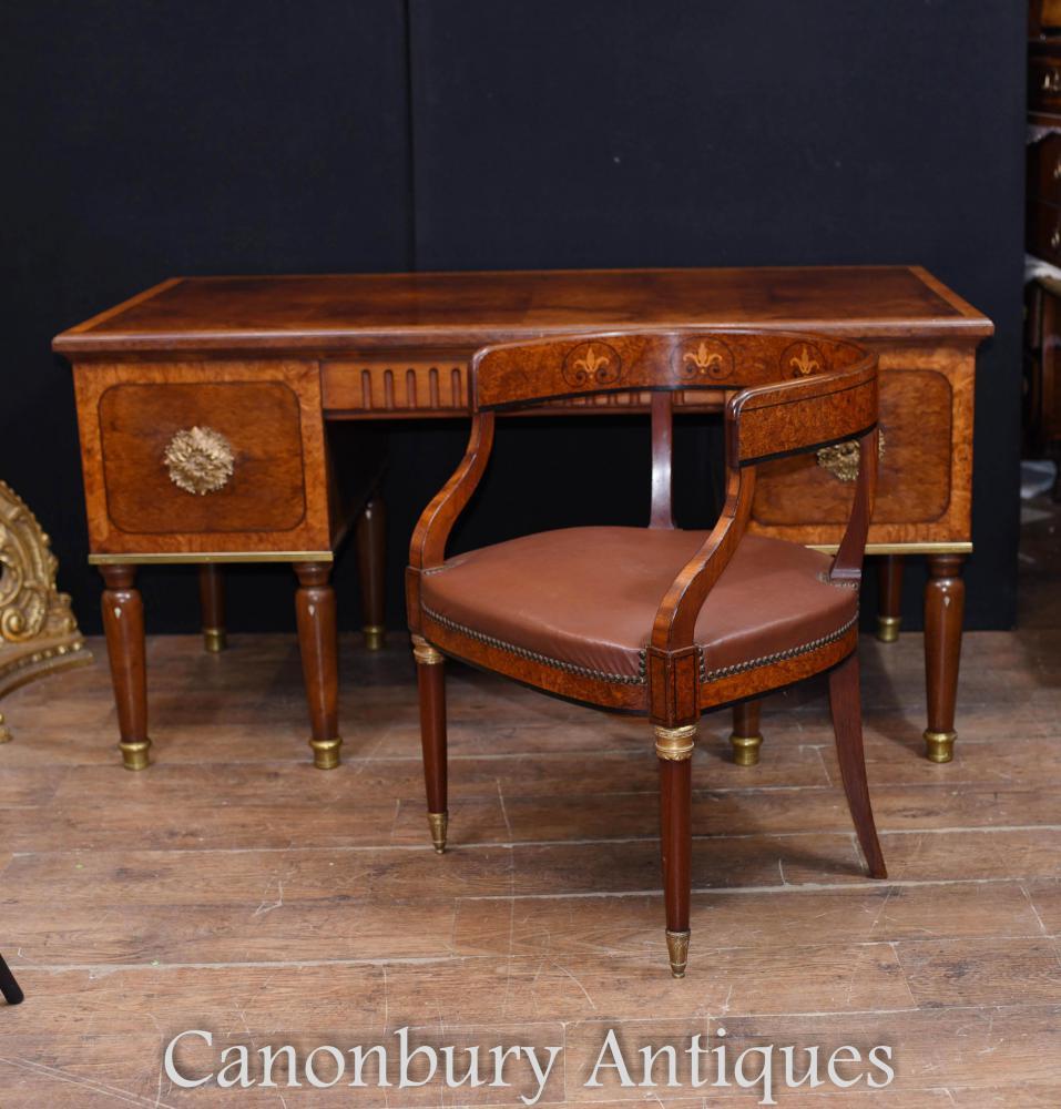 Bureau des Arts et Métiers d'Art Antique et Chaise Bureau 1900