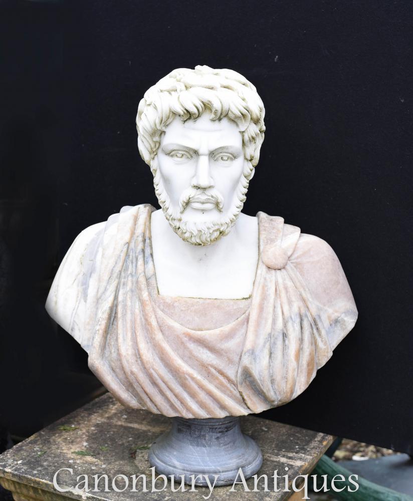 Buste de marbre italien empereur romain Antoninus Pius