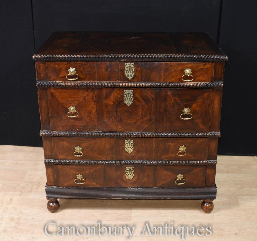 Commode Antique Coromandel Portugaise Vers 1690