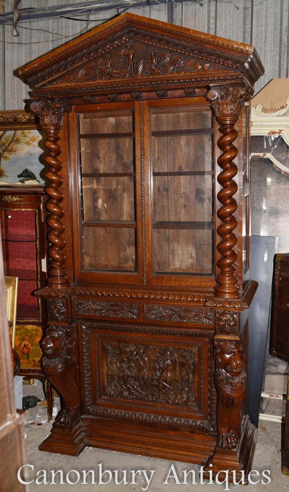 Grand Meuble Antique Bibliothèque Antique en Angleterre Vers 1860
