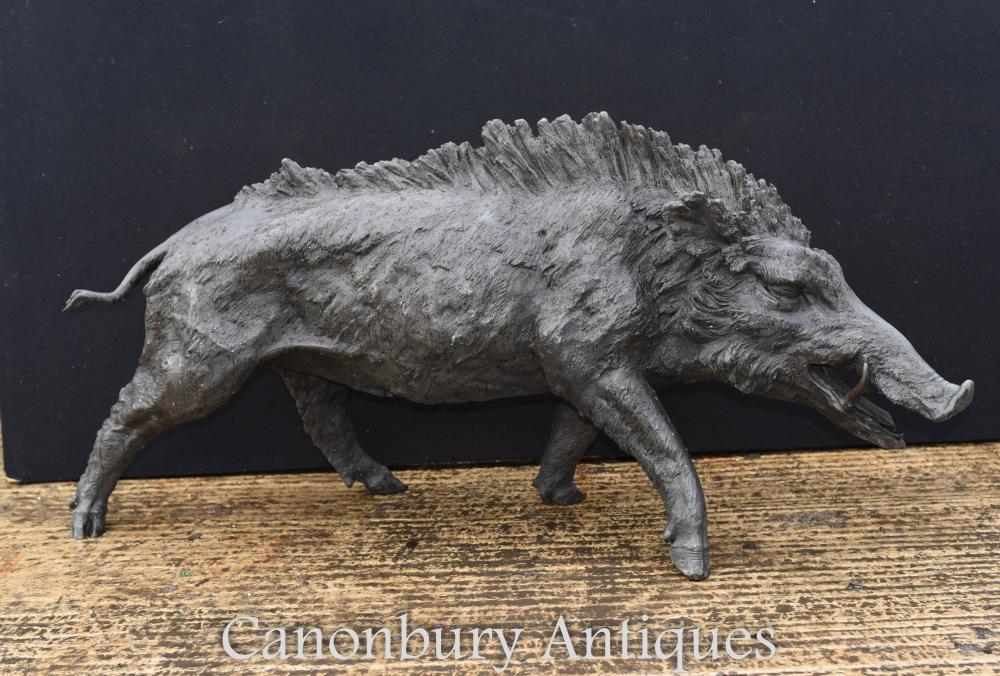 Grand sanglier celtique bronze Statue sanglier cochon