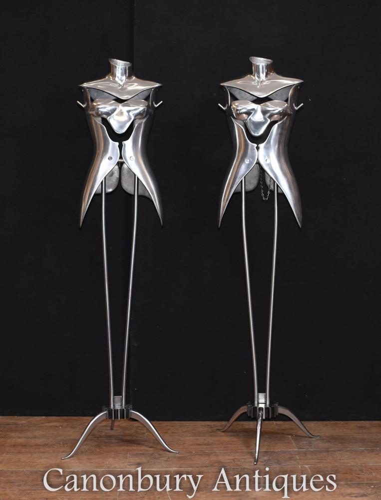 Paire Vintage Mannequins Metal Salvage Architectural
