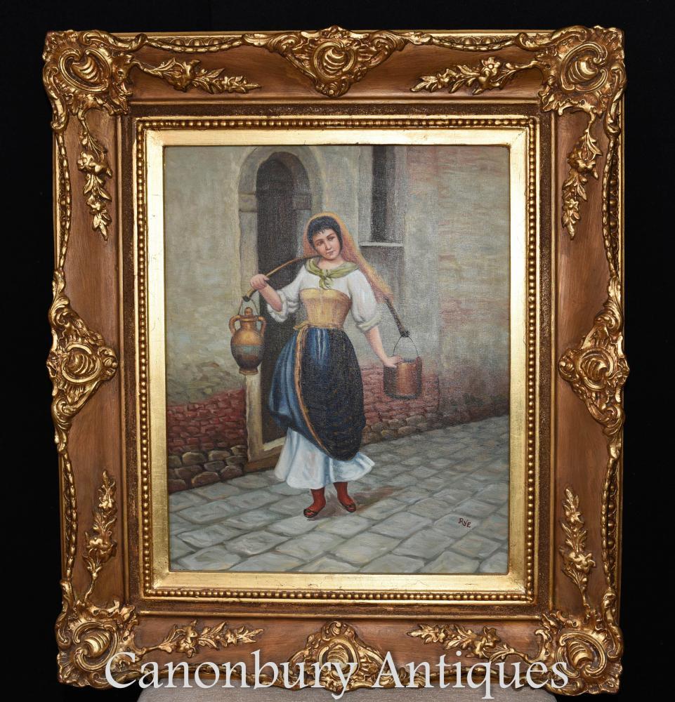 Peinture à l'huile espagnole Portrait Wine Lady Seville Senorita