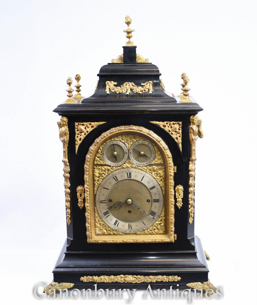 Pendule victorienne Westminster Chimes Carriage Time