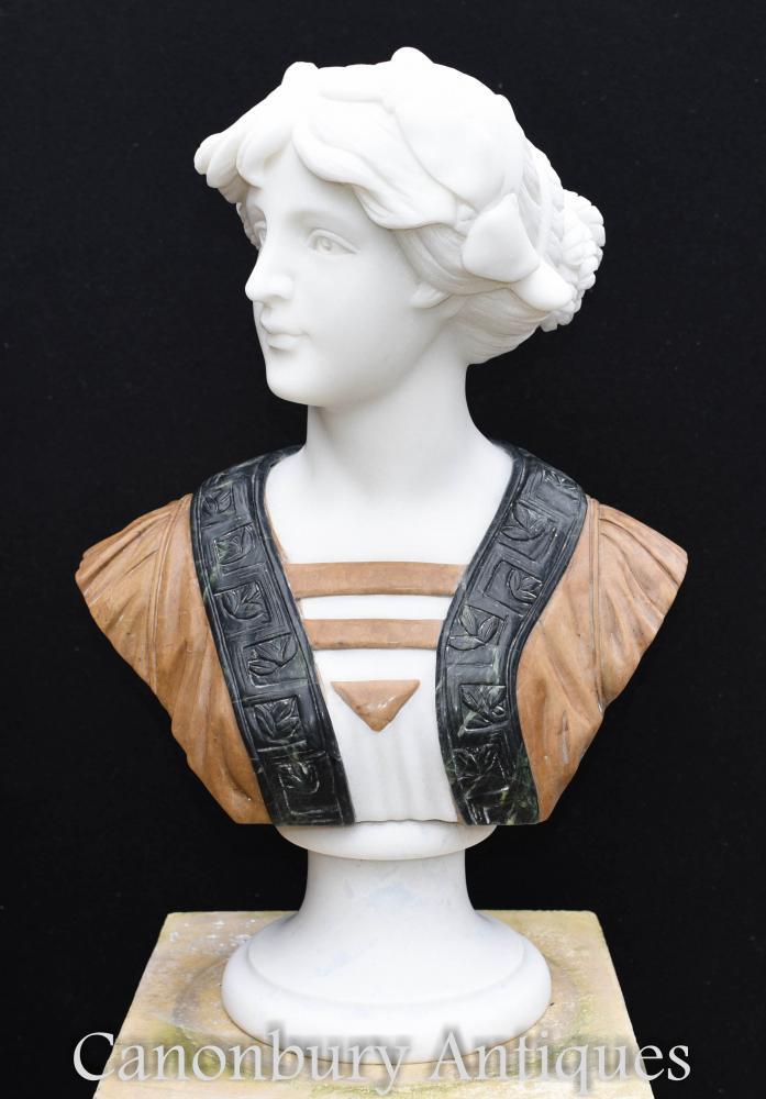 Sculpté à la main victorien marbre buste Lady Statue