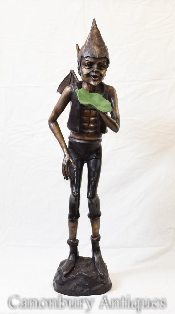 Statue de Pixie celtique en bronze Fairey Casting