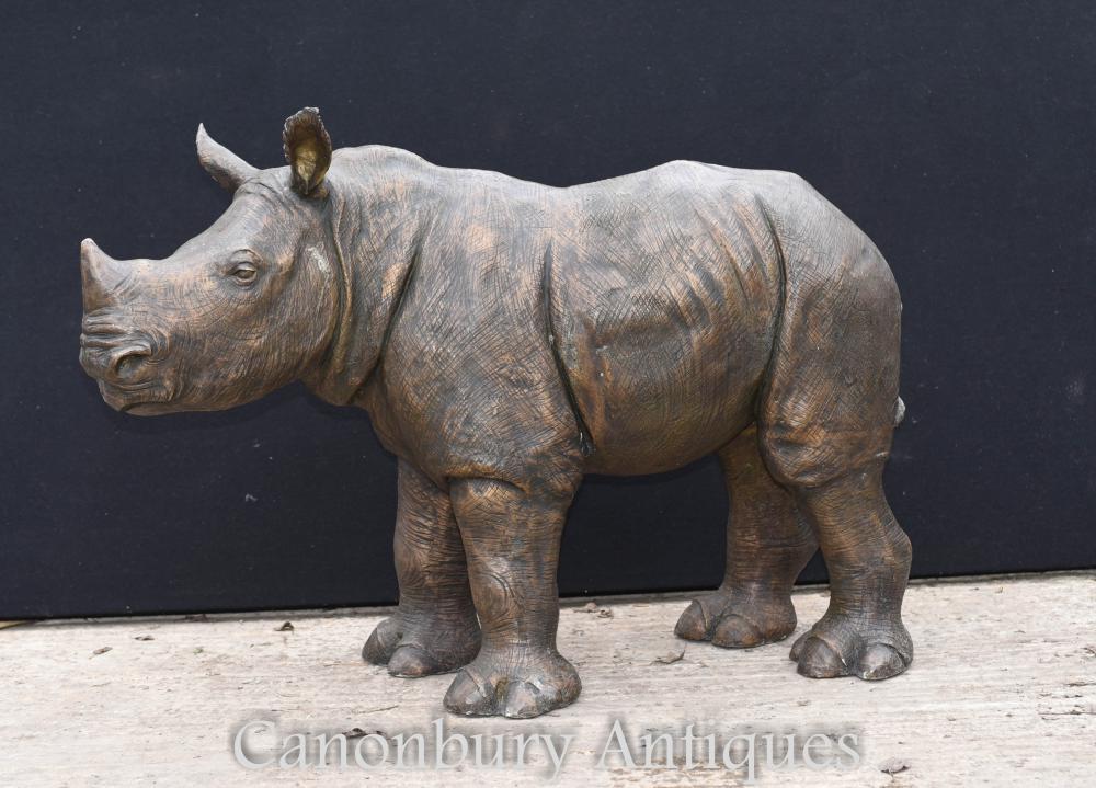 Statue de rhinocéros en bronze Coulée de rhinocéros en Afrique