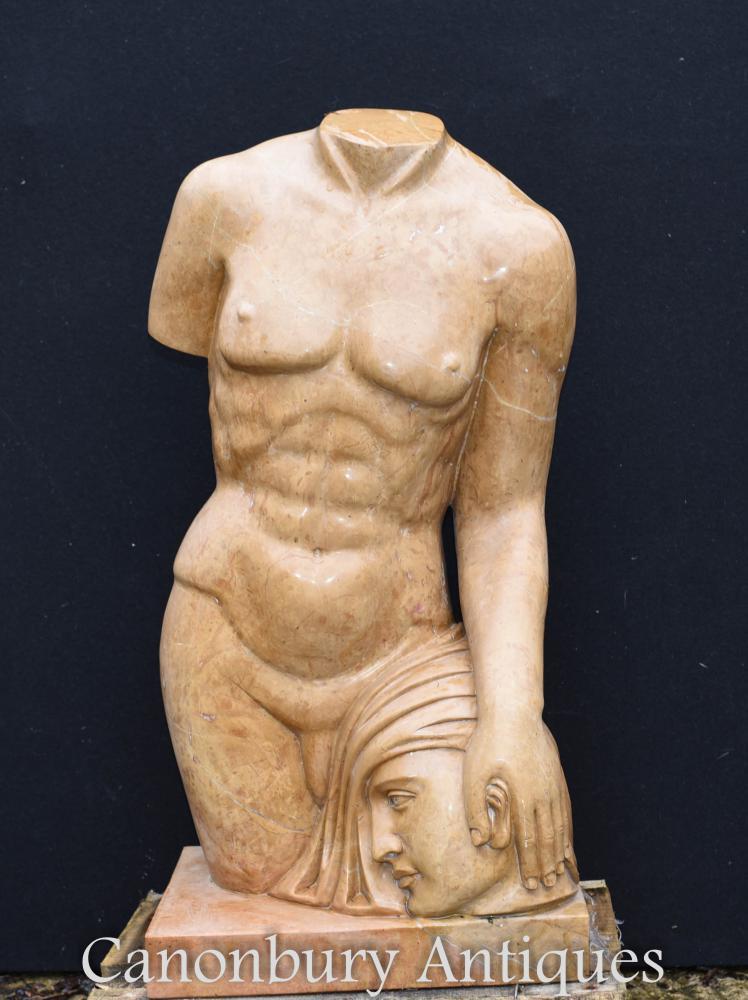 Statue de torse en marbre classique Medusa Perseus Art de Mythe grec
