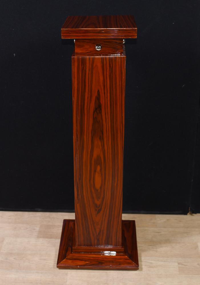 Table de support pour colonne de style palissandre Art Déco