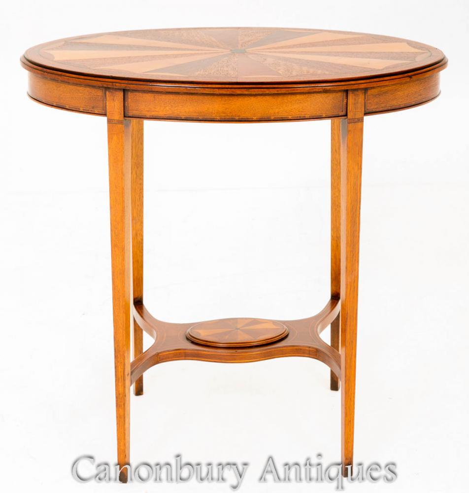 Antiquité Sheraton Occasional Table Circa 1880