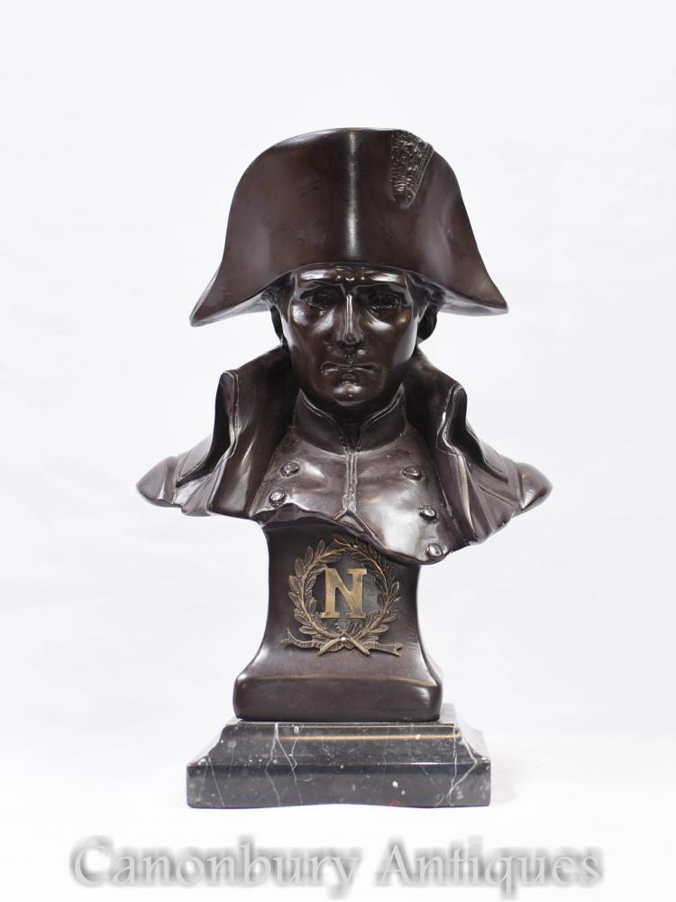 Buste en bronze Empereur Napoléon I Français Statue Antique